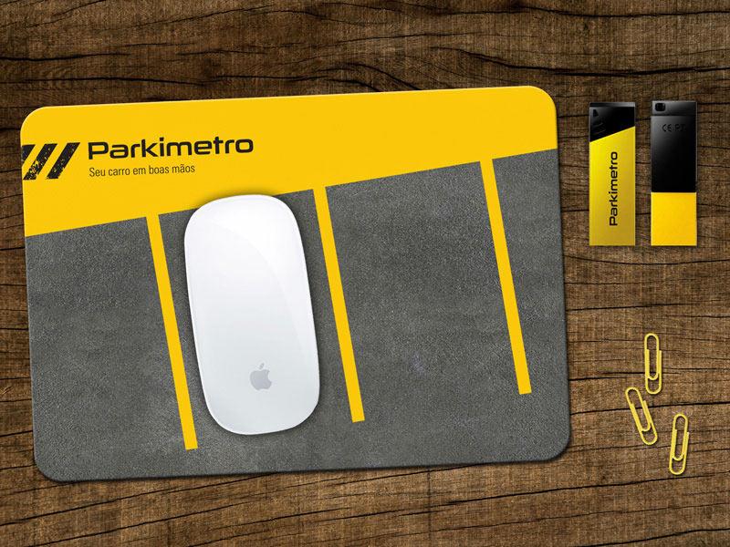 material promocional Parkimetro